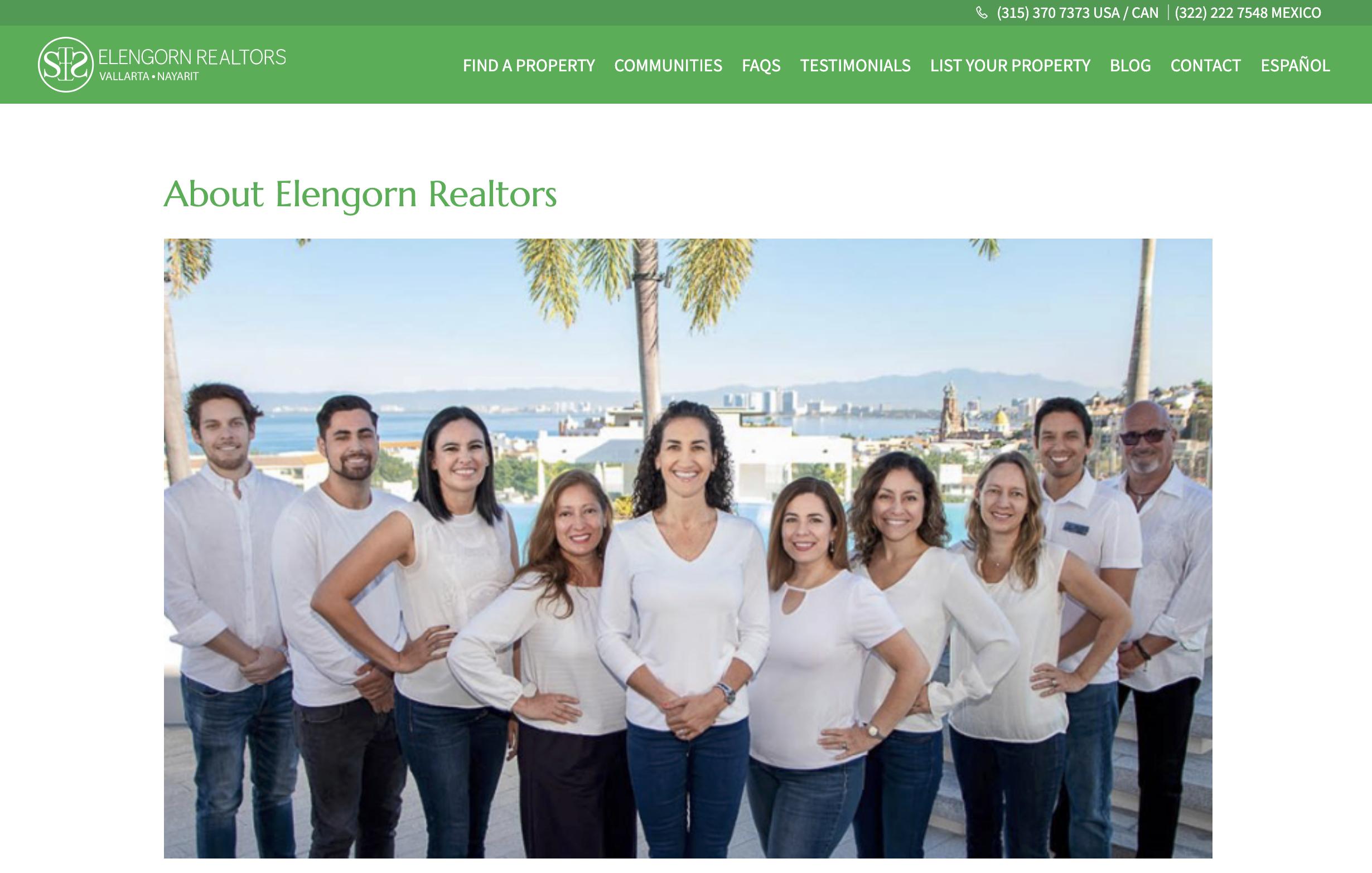 Elengorn Realtors Redesigns Its Website